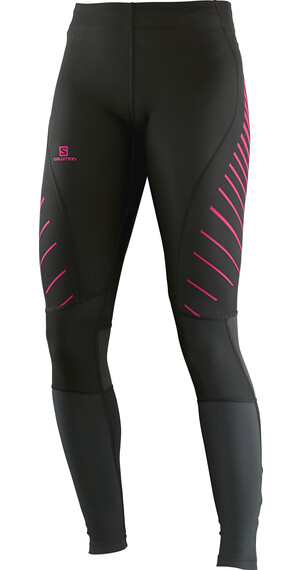Salomon W's Endurance Tight Black / Hot Pink